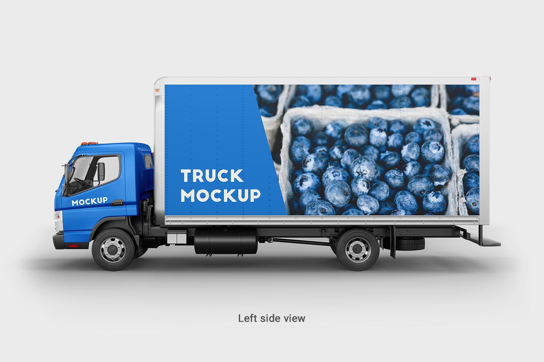 6款厢式货车卡车车身广告设计展示样机 Truck Mockup 4插图(6)