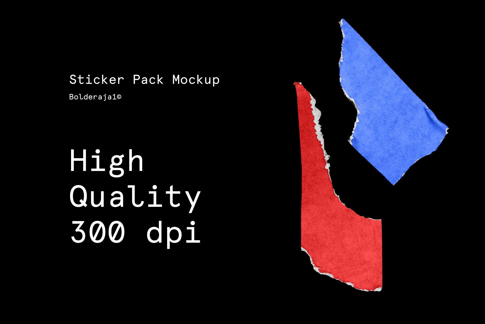 22款高清潮流做旧破损标签贴纸改色平面设计PSD素材模板 Sticker Mockup Pack插图(6)