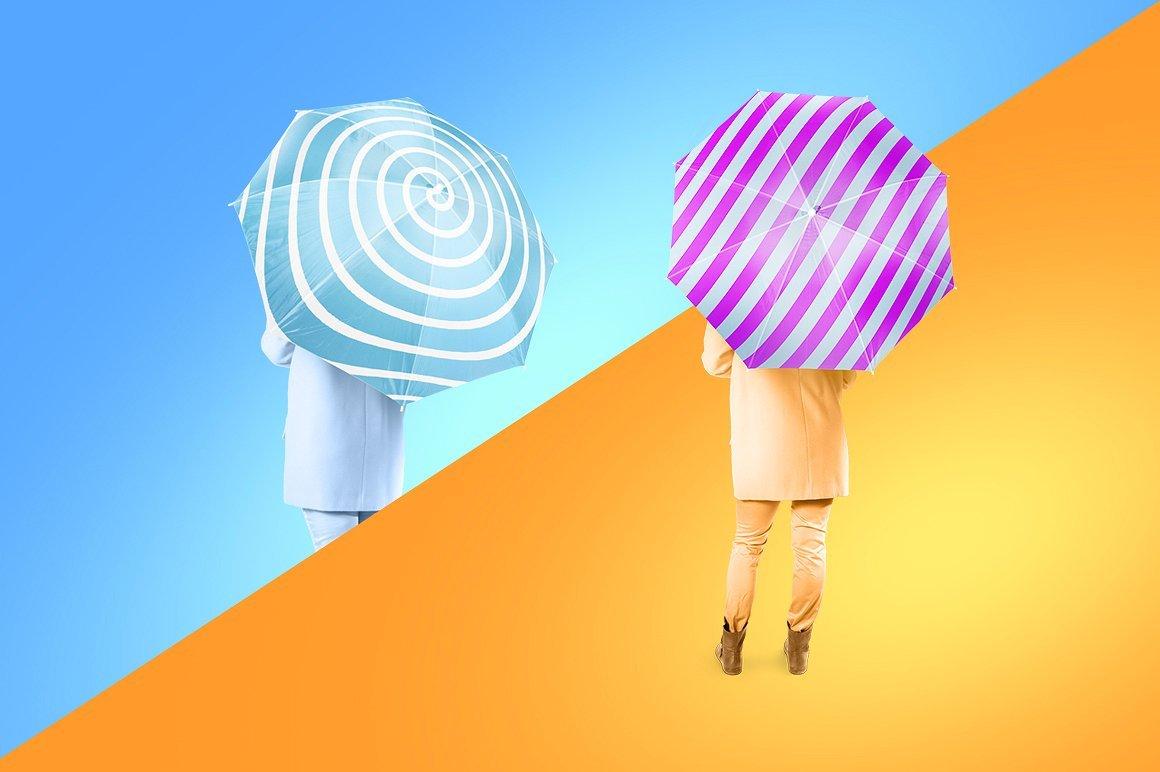 太阳伞雨伞印花设计展示样机模板 Umbrella Mockup插图(6)