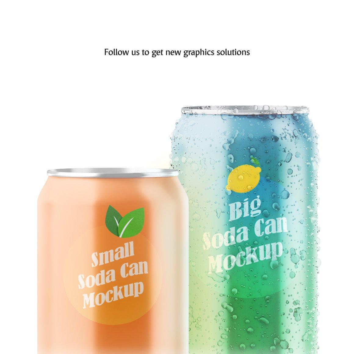 饮料汽水易拉罐锡罐设计动态展示样机 Soda Can Animated Mockup插图(6)