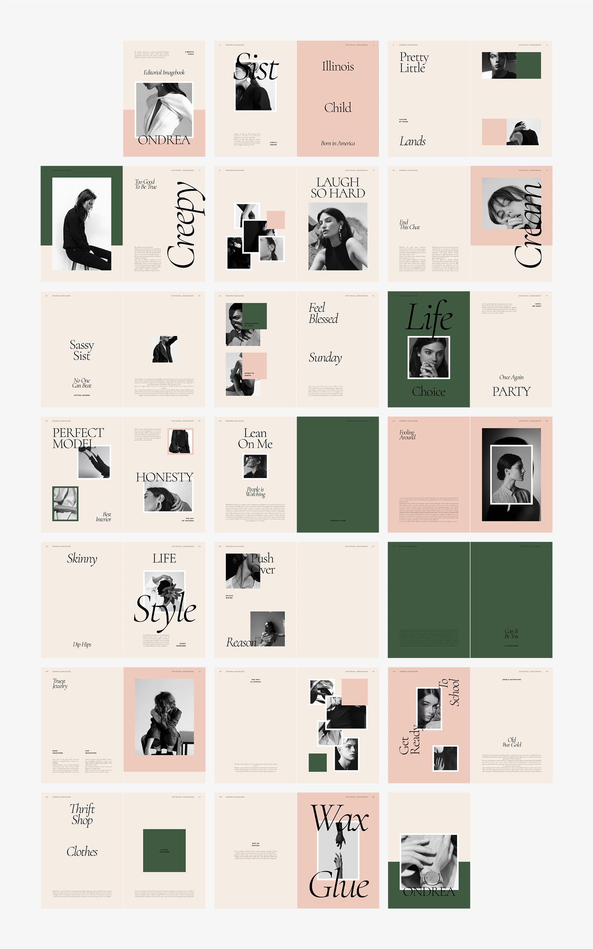 时尚服装设计作品集INDD画册模板 ONDREA Editorial Imagebook插图(6)