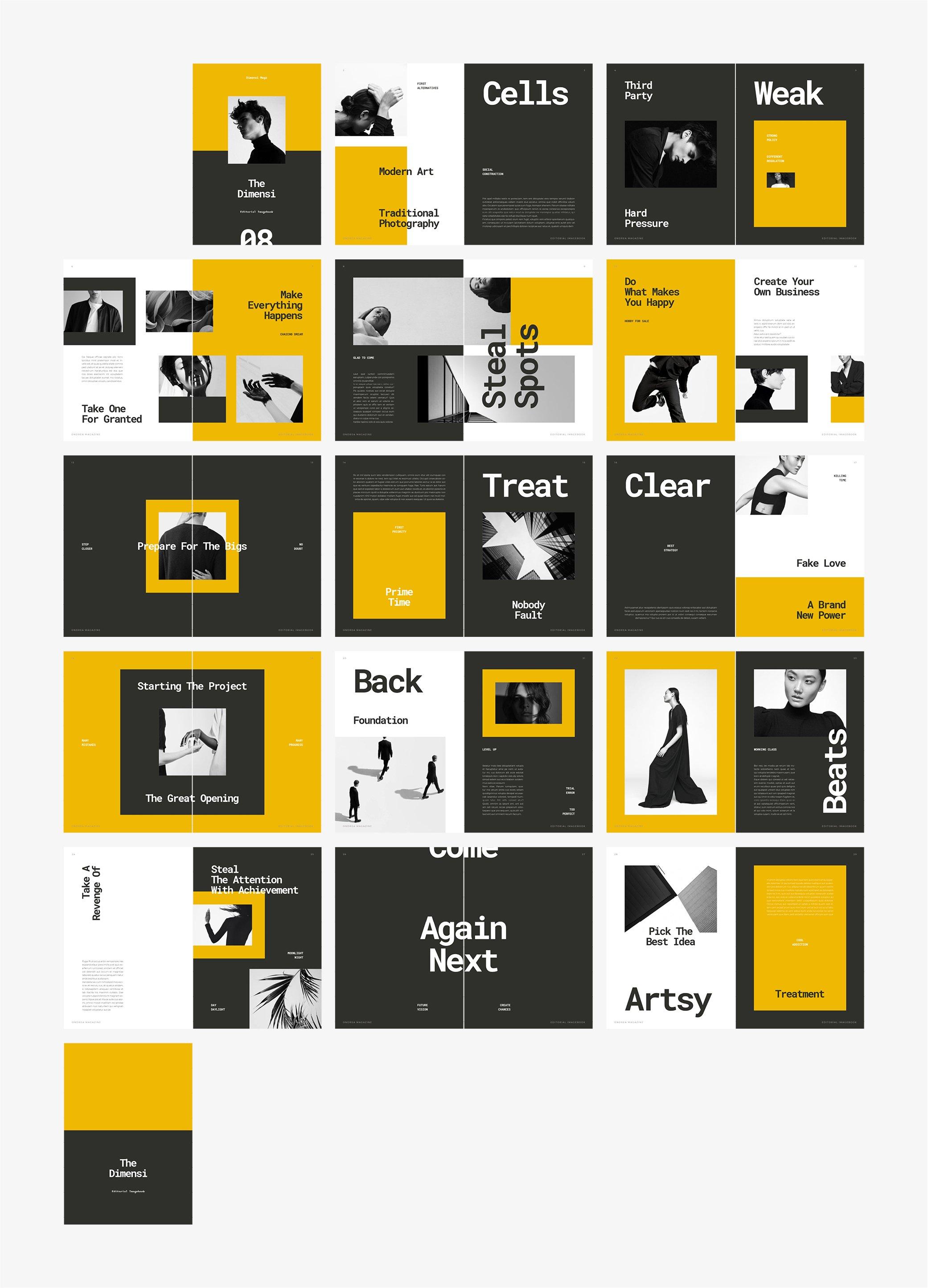 摄影作品集设计INDD画册模板 DIMENSI Editorial Imagebook插图(6)