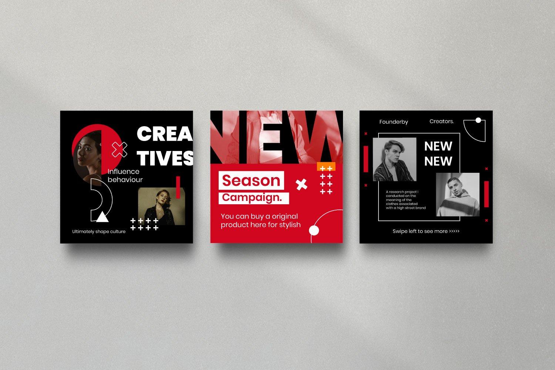 时尚潮流品牌推广新媒体海报设计PSD模板 Creator – Dynamic Social Media Brand插图(5)
