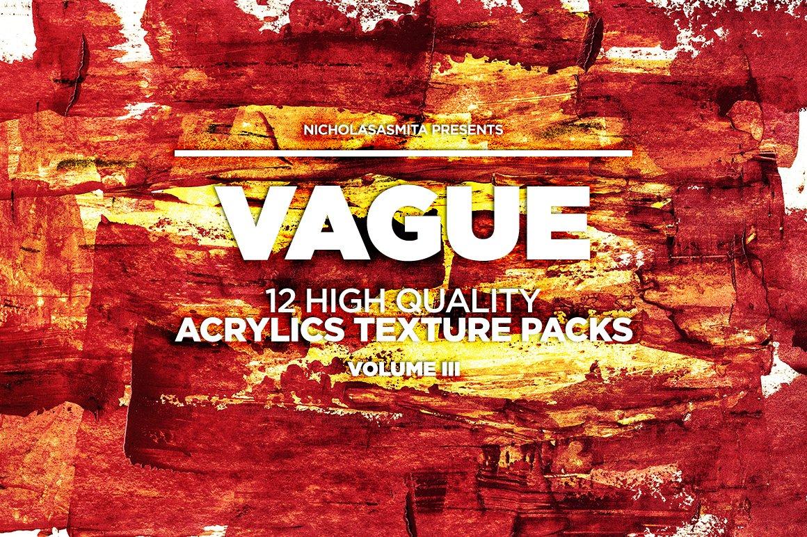 12款高清炫彩丙烯酸涂料背景纹理图片素材 Vague III: 12 Acrylics Textures插图(6)