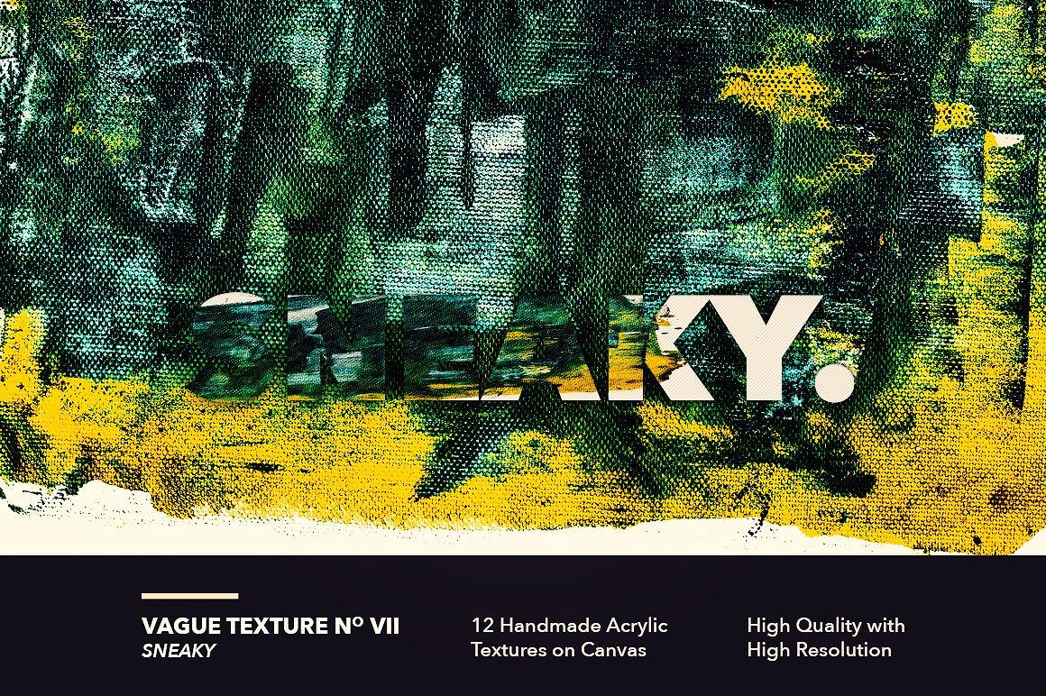 12款高清抽象炫彩丙烯酸涂料海报设计背景纹理图片素材 Vague I: 12 Acrylics Textures插图(7)