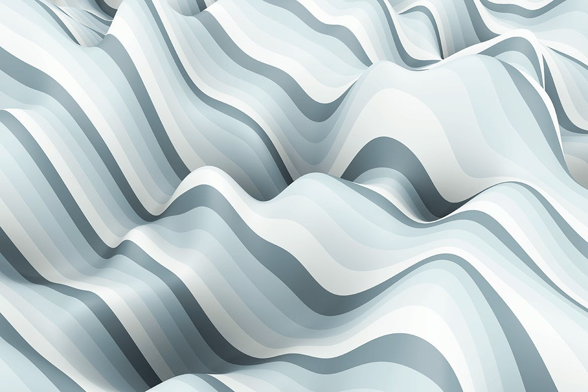 10款高清抽象多彩3D条纹波背景PNG图片素材 Multi-colored Striped Waves Backgrounds插图(6)