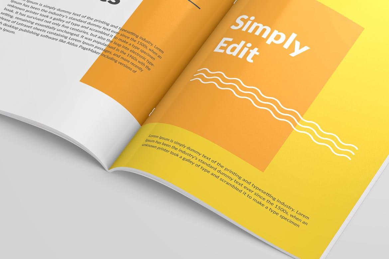 6款画册杂志设计展示样机模板 Magazine Close Up Mockup插图(6)