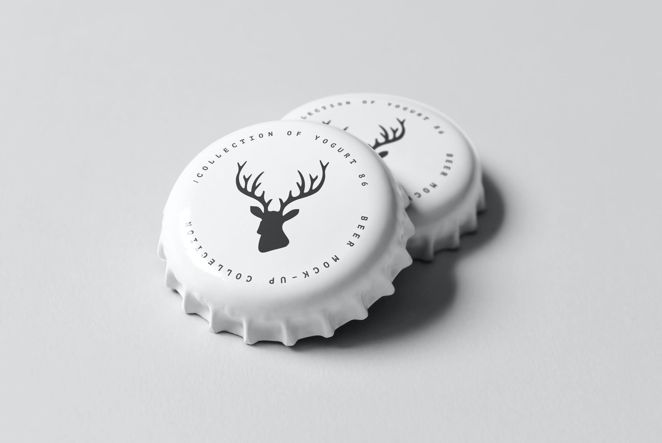 7款啤酒玻璃瓶标签设计展示样机模板 Beer Mockup 5插图(6)