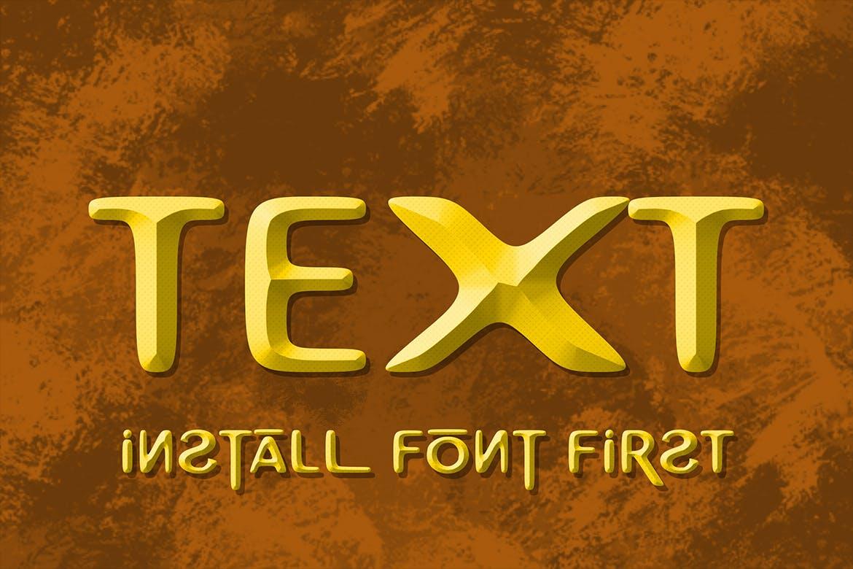 卡通手写3D立体字体PS文字样式毛笔 Richman Adventure Font插图(6)