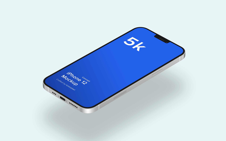苹果iPhone 12手机概念样机 iPhone 12 Mockup 5.0 (Concept)插图(1)