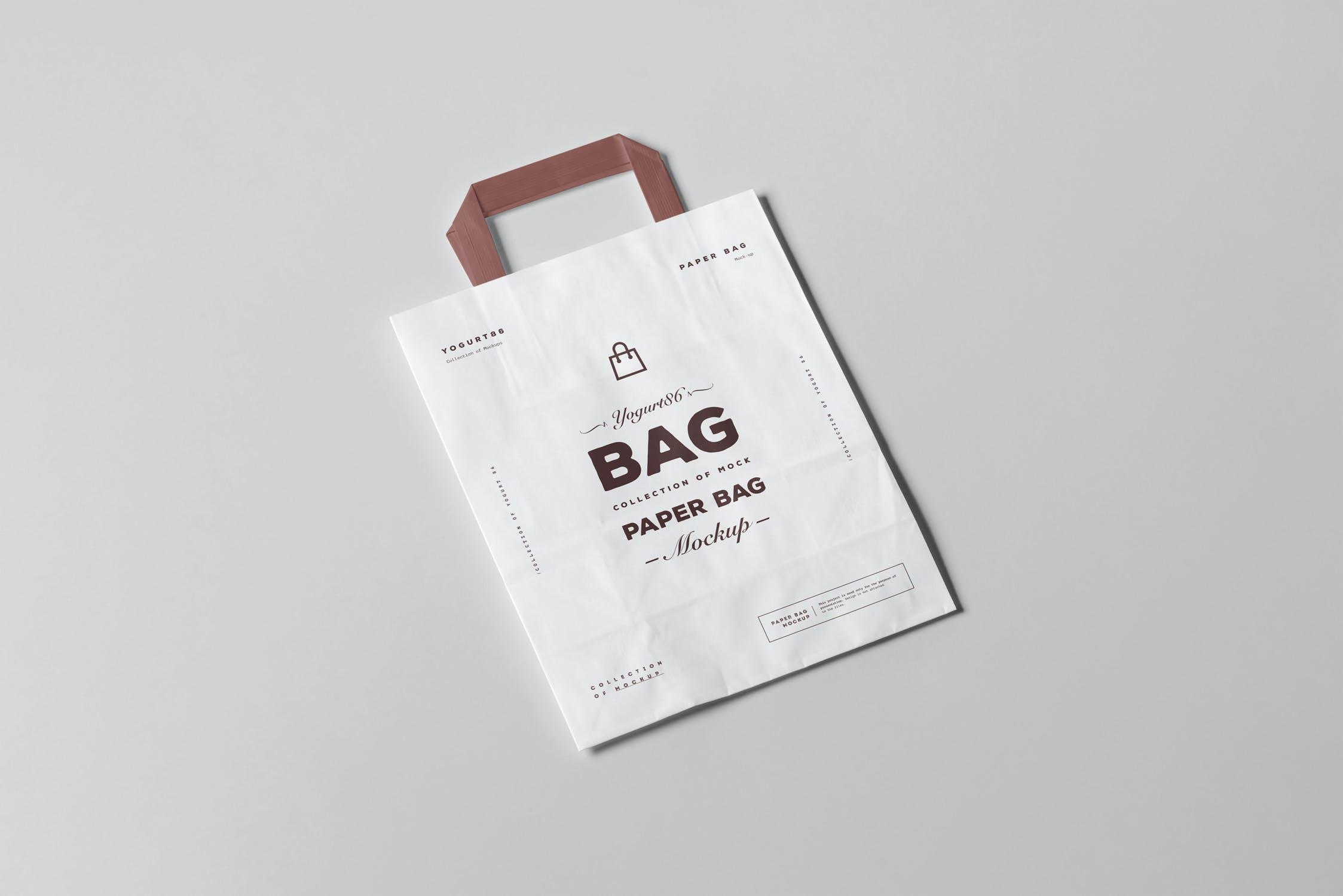 11款商城购物手提纸袋设计展示样机 Paper Bag Mockup 3插图(6)