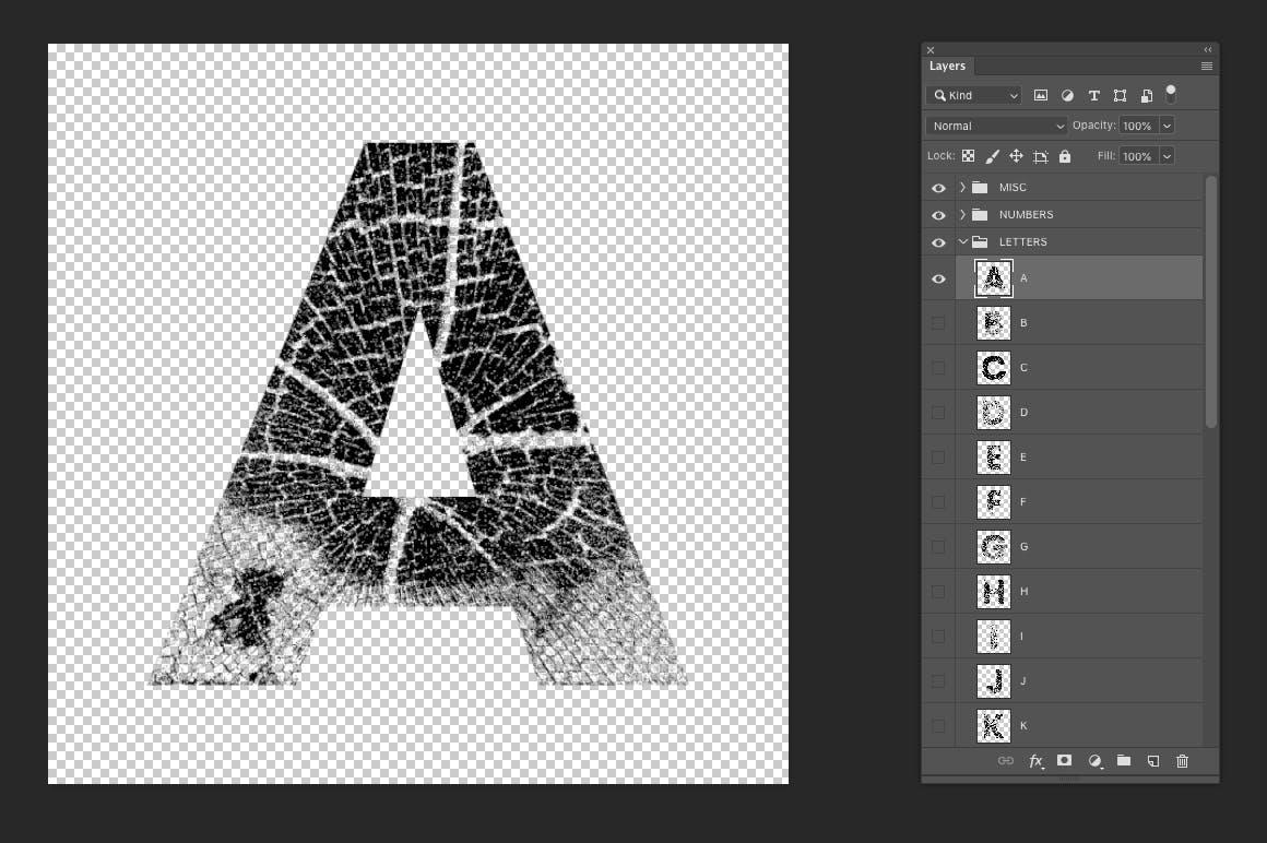 高清木纹字母符号背景纹理素材 Wood Grain Type插图(6)