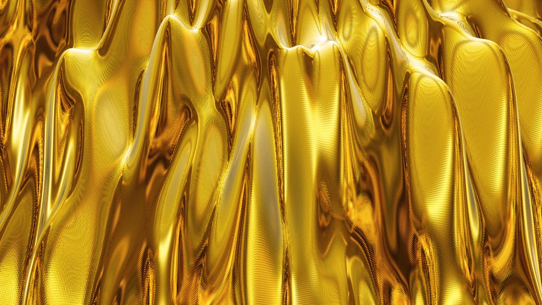 6款高清金色带纹理波浪背景素材 Gold Backgrounds插图(6)