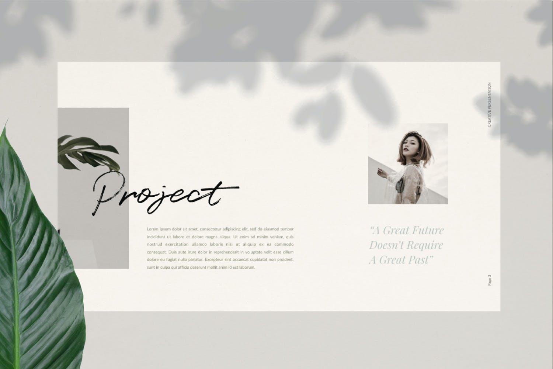 轻柔摄影作品集演示文稿设计模板 Elliette – Powerpoint插图(6)