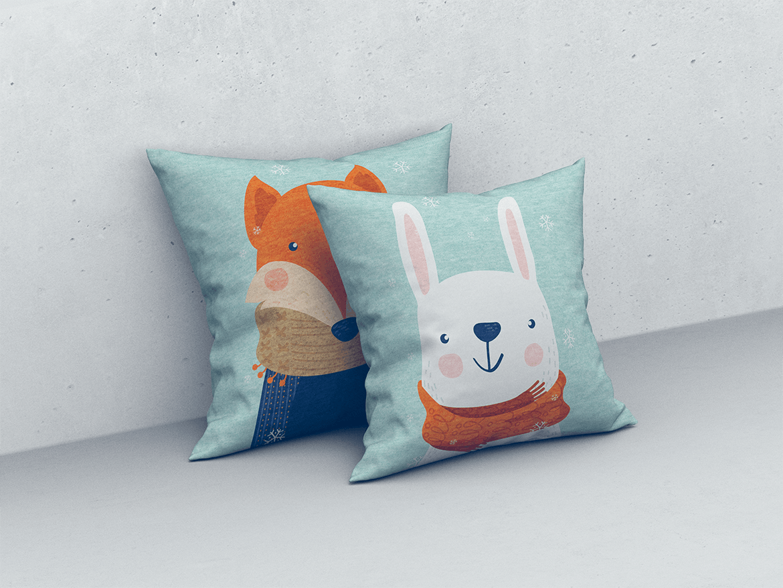9款方形抱枕枕头靠垫设计展示样机 Square Pillow / Cushion MockUp插图(6)