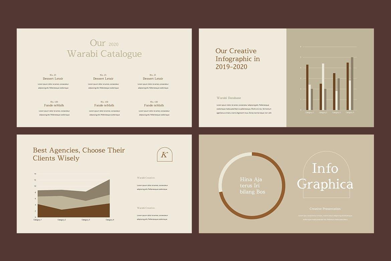时尚服装造型设计作品集幻灯片模板 WARABI – Fashion Lookbook PowerPoint Template插图(6)