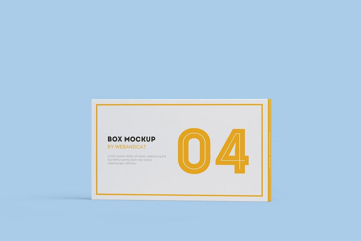 9款平面矩形药片包装盒设计展示样机模板 Package Box Mockup: Flat Rectangle Box插图(6)