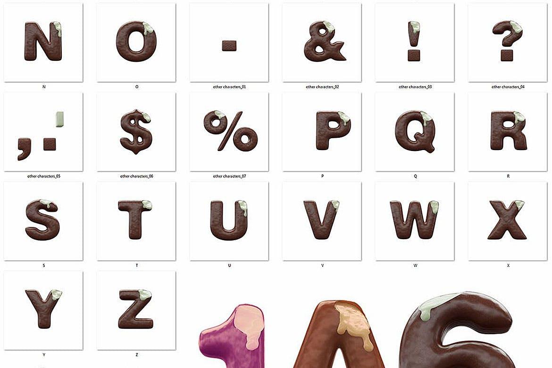 逼真高清3D冰激凌冰棍刻字效果PNG图片素材 Ice Cream – 3D Lettering插图(6)
