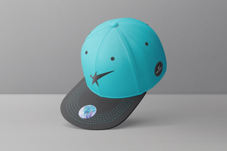 9款棒球帽印花设计展示样机模板 Snapback Baseball Cap Mockups Vol.1插图(6)