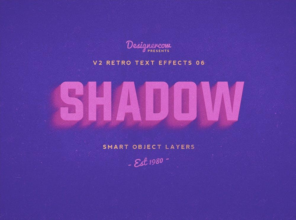10款复古3D立体效果徽标标题字体设计PS样式模板 Retro Text Effects V2插图(6)