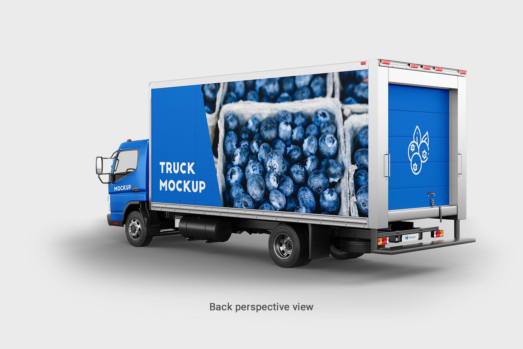 6款厢式货车卡车车身广告设计展示样机 Truck Mockup 4插图(7)