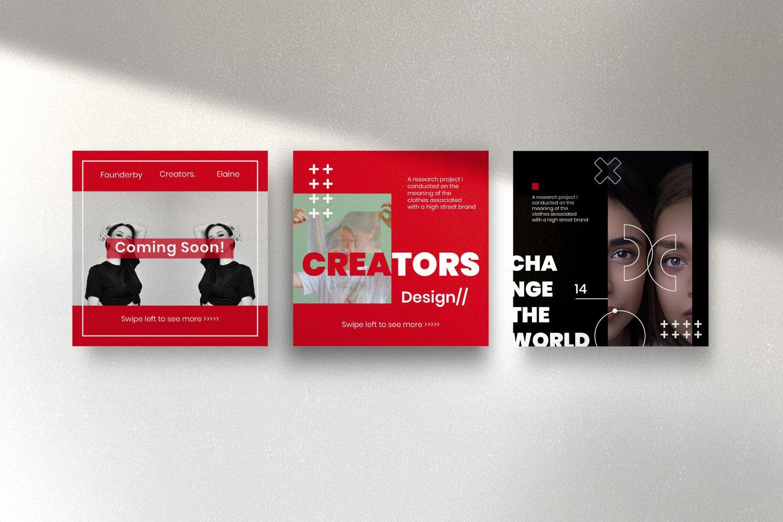 时尚潮流品牌推广新媒体海报设计PSD模板 Creator – Dynamic Social Media Brand插图(6)