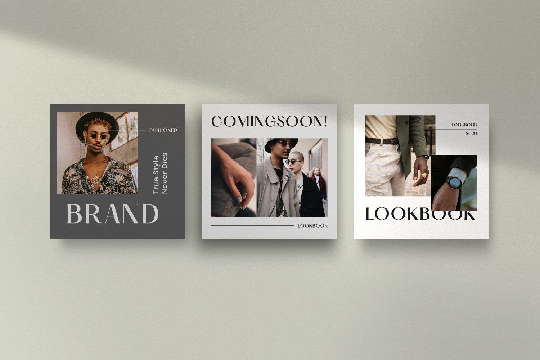时尚服装品牌摄影推广新媒体海报设计PSD模板 MAGZ – Fashion Brand Social Media插图(7)