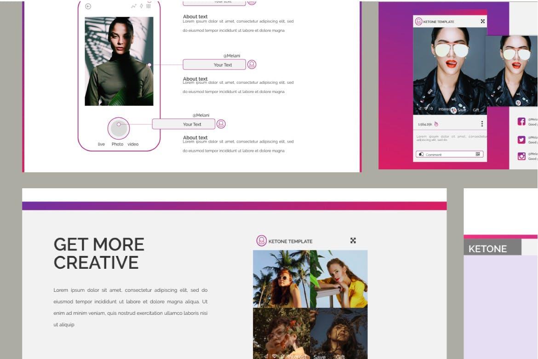 创意多用途商务营销幻灯片设计模板 KETONE – Powepoint Template Business Corporate插图(7)