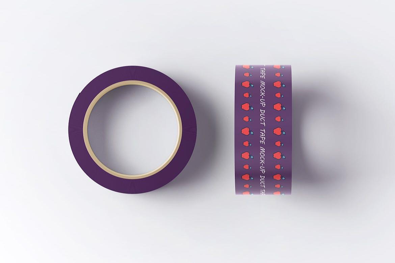 8款不干胶贴纸设计展示样机模板 Duct Tape Mockup插图(7)