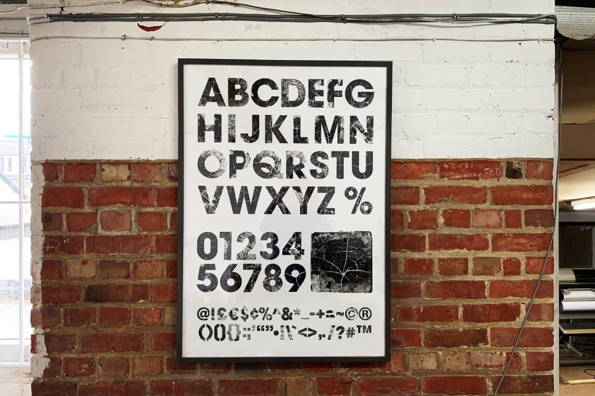 高清木纹字母符号背景纹理素材 Wood Grain Type插图(7)
