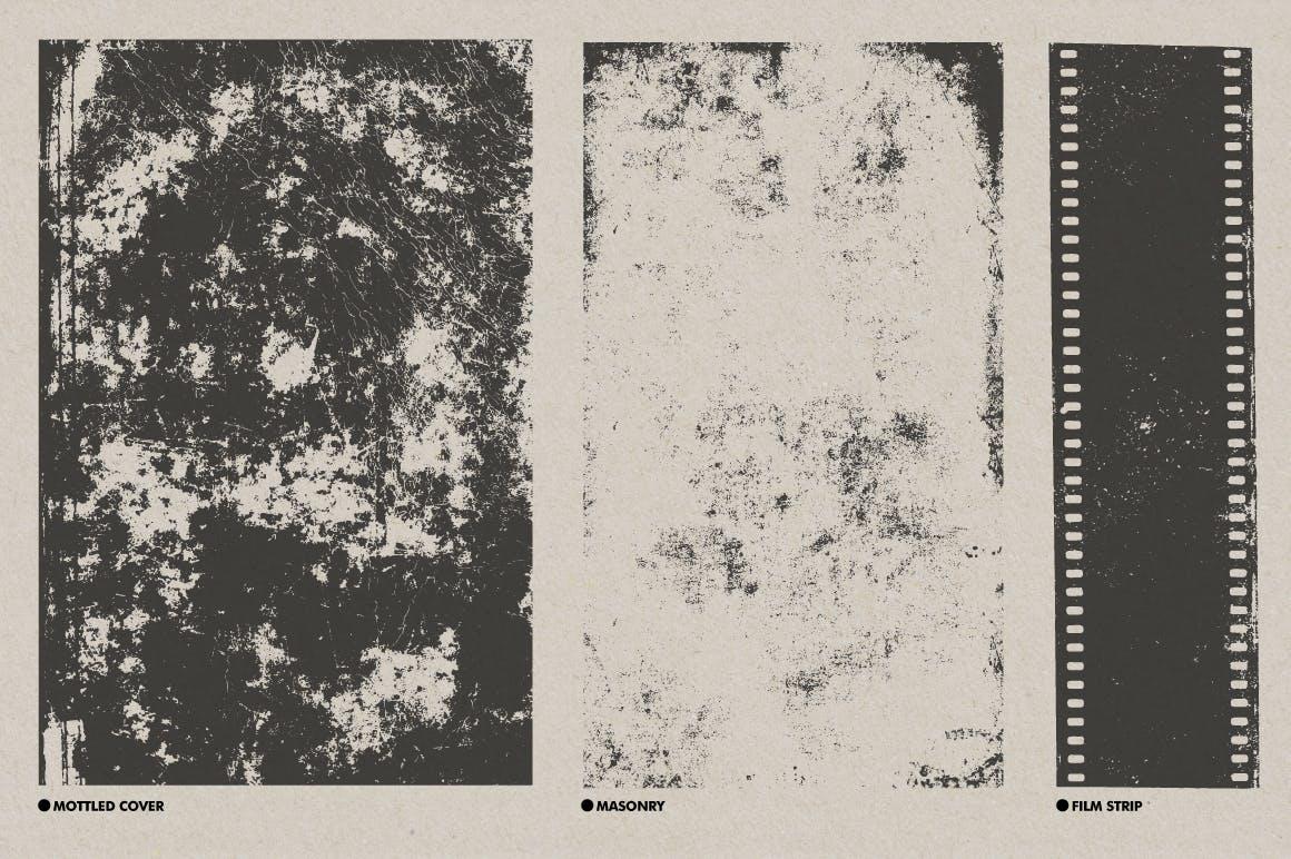 30款复古矢量插图背景纹理素材 Vintage Textures Pack插图(7)