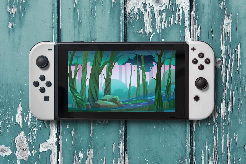 8款Wii U掌上游戏机游戏设计预览样机 8 Switch Console Mockups插图(7)