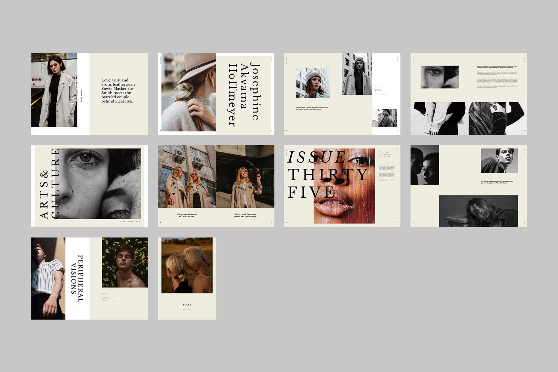 时尚摄影作品集宣传画册设计INDD模板 Photography Portfolio Brochure Template插图(7)