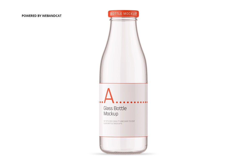 果汁牛奶玻璃瓶设计展示样机 Juice / Glass Bottle Mockup插图(7)