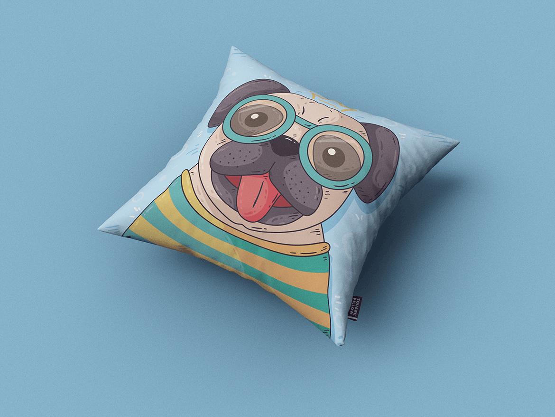 9款方形抱枕枕头靠垫设计展示样机 Square Pillow / Cushion MockUp插图(7)