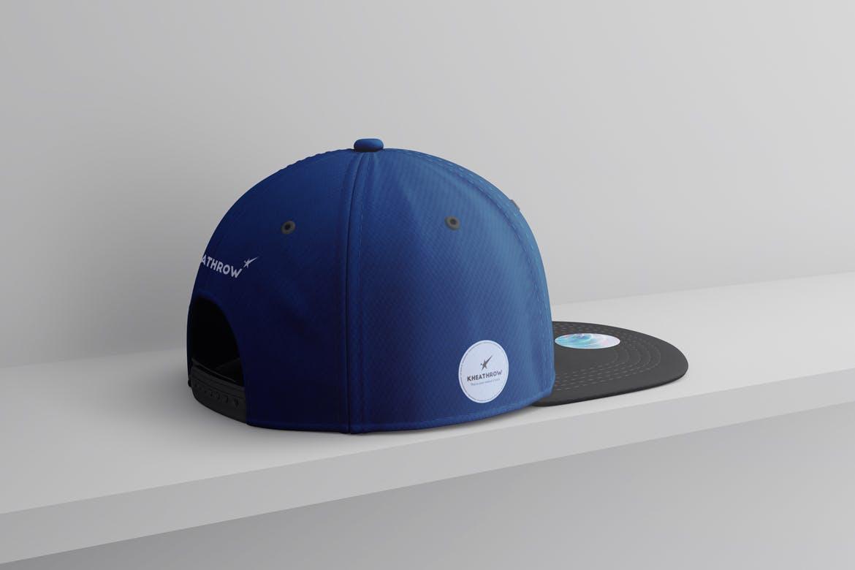 9款棒球帽印花设计展示样机模板 Snapback Baseball Cap Mockups Vol.1插图(7)