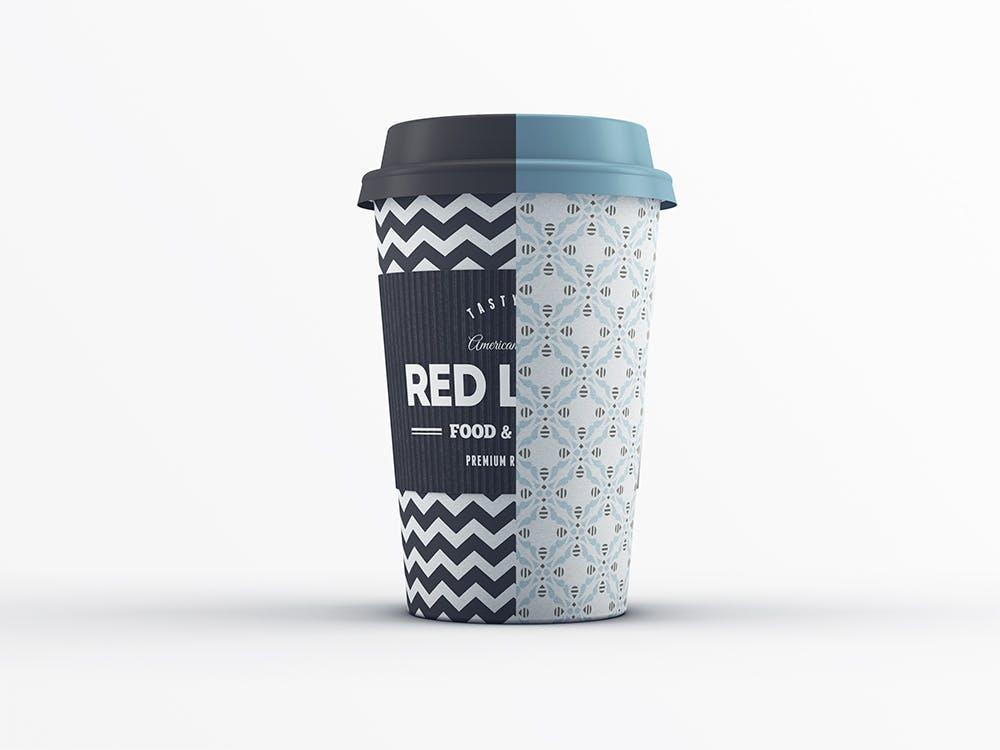 24款多角度一次性外卖咖啡纸杯设计展示样机模板 Coffee Cup MockUp插图(7)