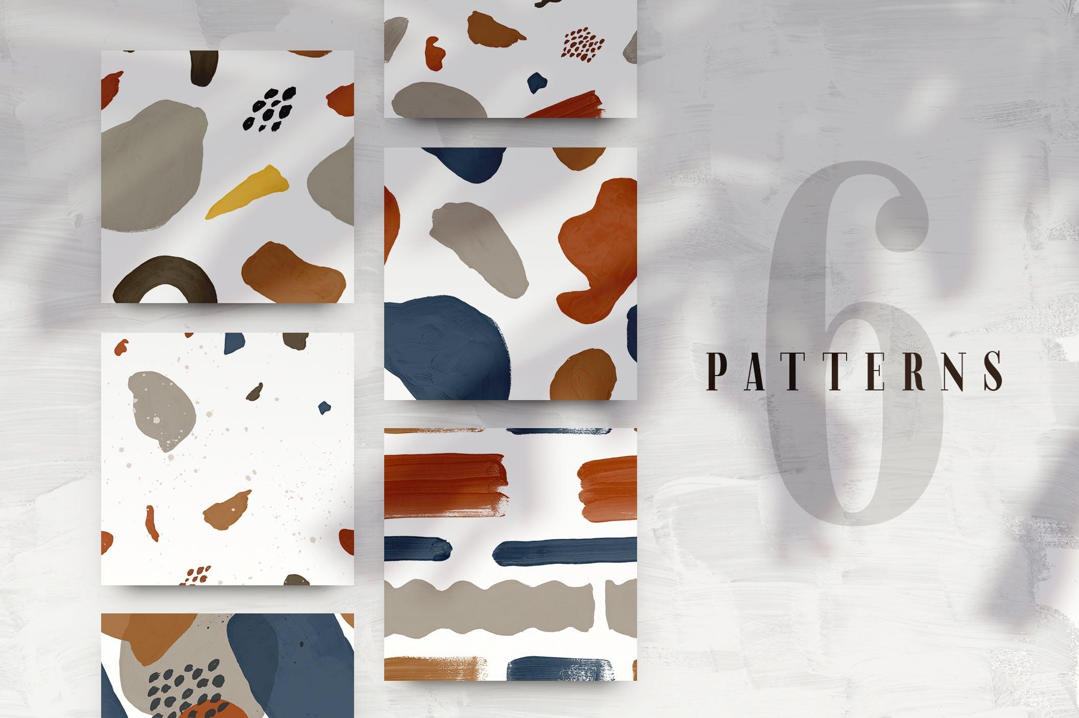 64款高清手绘抽象墨水飞溅背景PNG图片素材 Abstract Patterns & Backs插图(7)