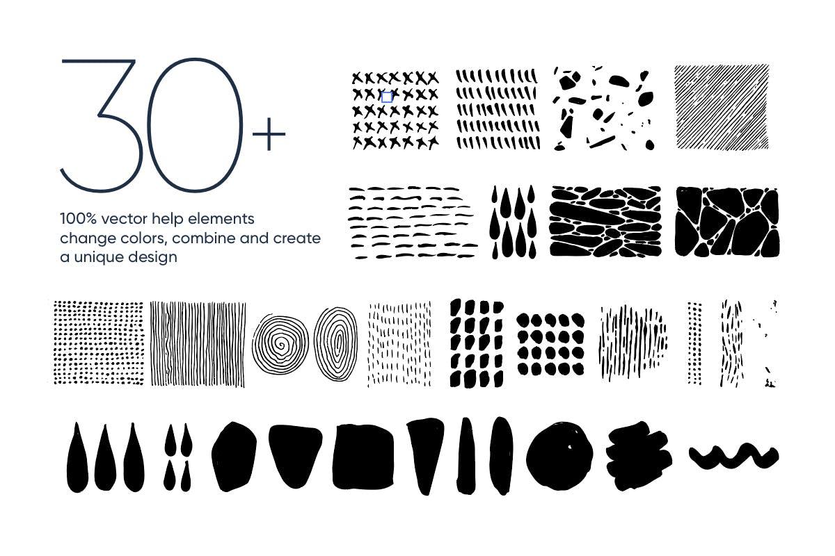 现代时尚抽象手绘图案背景纹理矢量素材 Abstract Backgrounds插图(7)