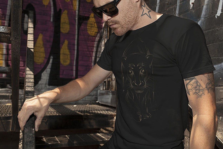 点状动物T恤印刷设计矢量图案素材 Point Animals T-shirt Vector Designs插图(7)
