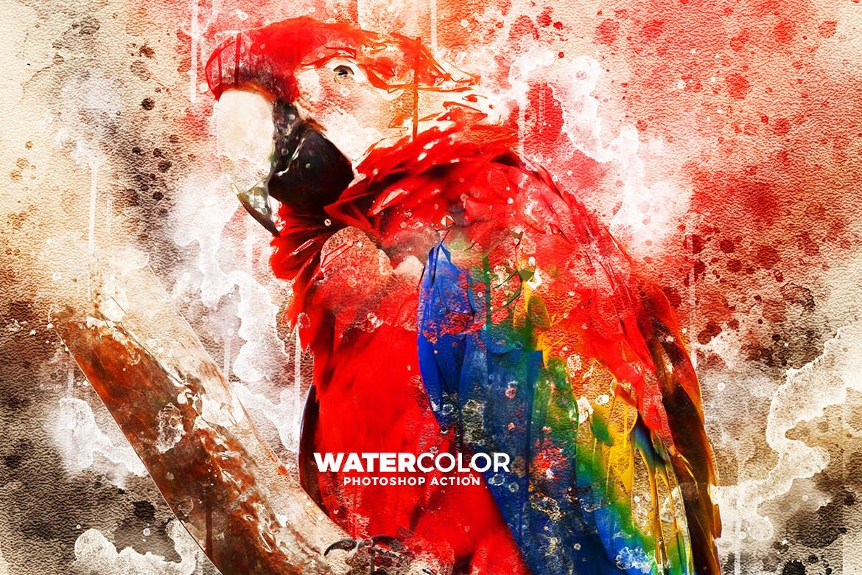 抽象水彩画照片处理效果Photoshop动作 Watercolor Photoshop Action插图(7)