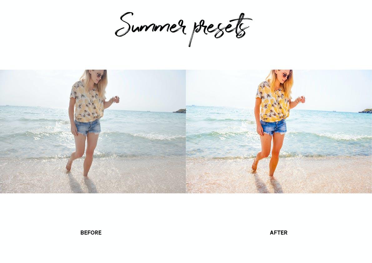 30款夏季海滩摄影照片调色LR预设模板 Summer Lightroom Presets插图(7)