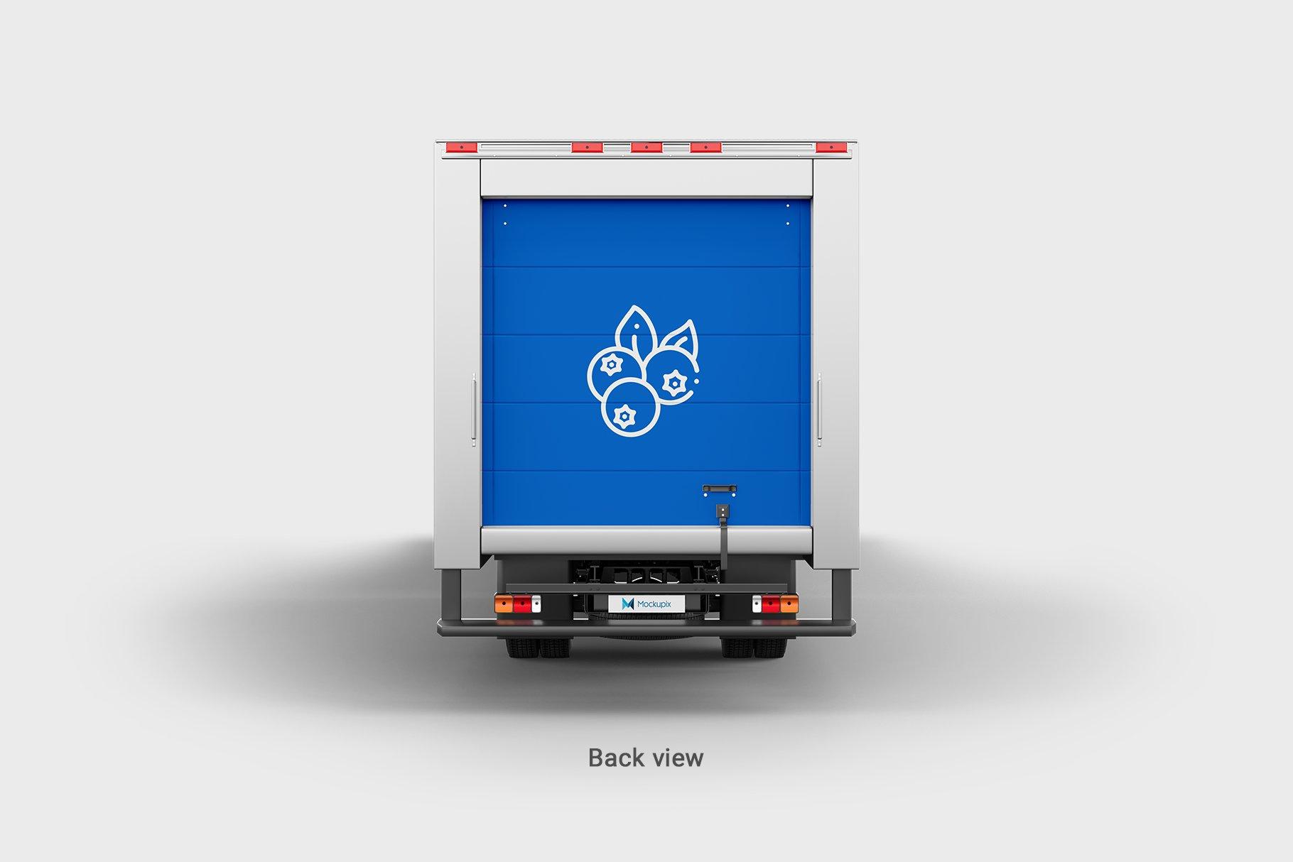 6款厢式货车卡车车身广告设计展示样机 Truck Mockup 4插图(8)