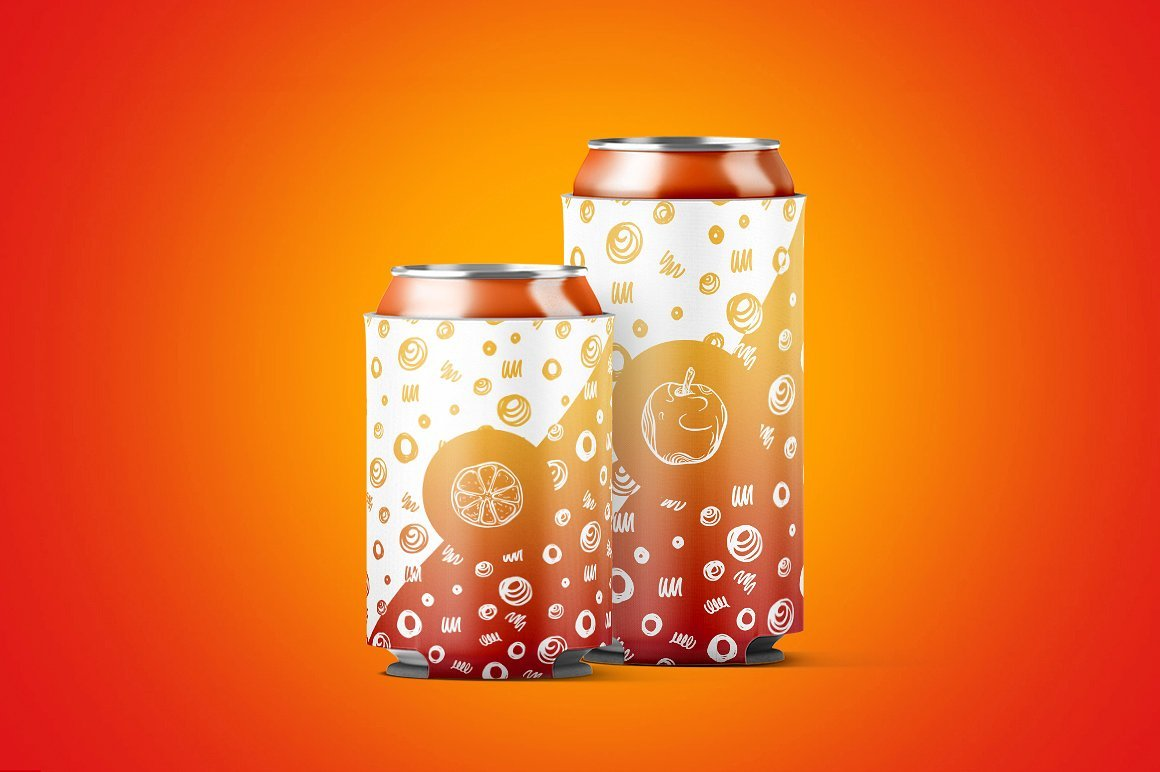 听装啤酒饮料易拉罐外观设计展示样机 Can Koozie Animated Mockup插图(8)