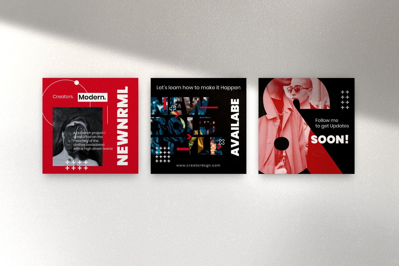 时尚潮流品牌推广新媒体海报设计PSD模板 Creator – Dynamic Social Media Brand插图(7)