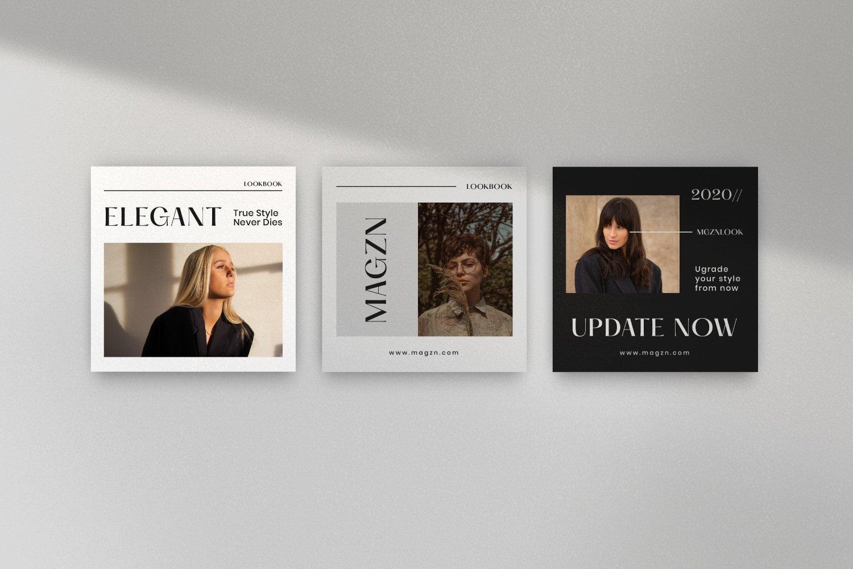 时尚服装品牌摄影推广新媒体海报设计PSD模板 MAGZ – Fashion Brand Social Media插图(8)