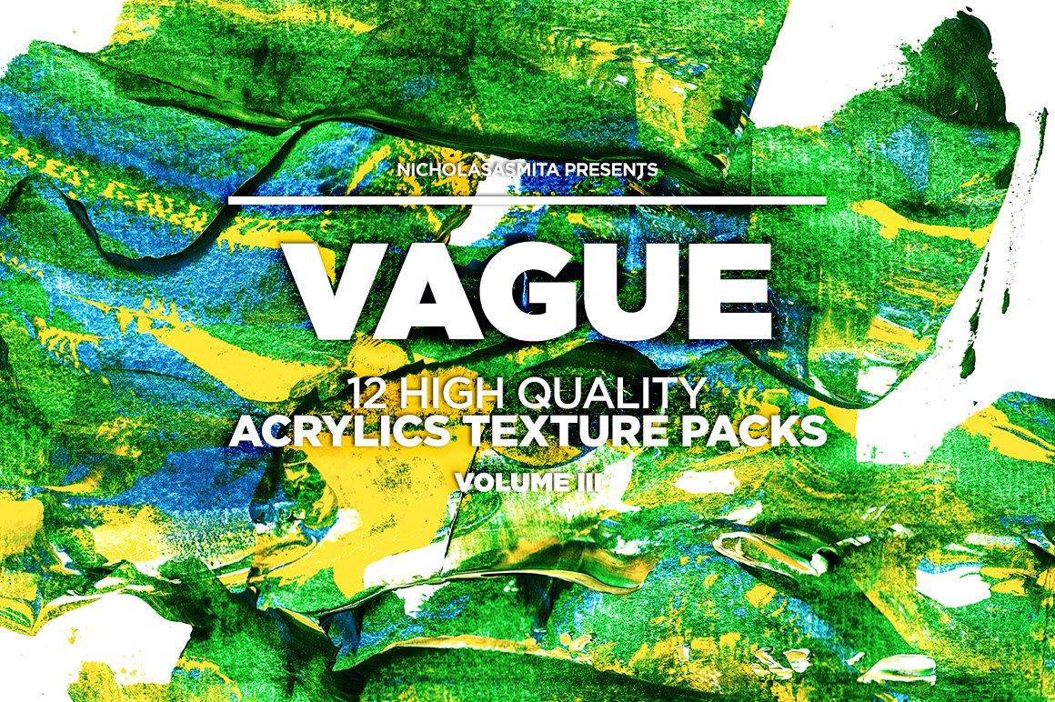 12款高清炫彩丙烯酸涂料背景纹理图片素材 Vague III: 12 Acrylics Textures插图(4)