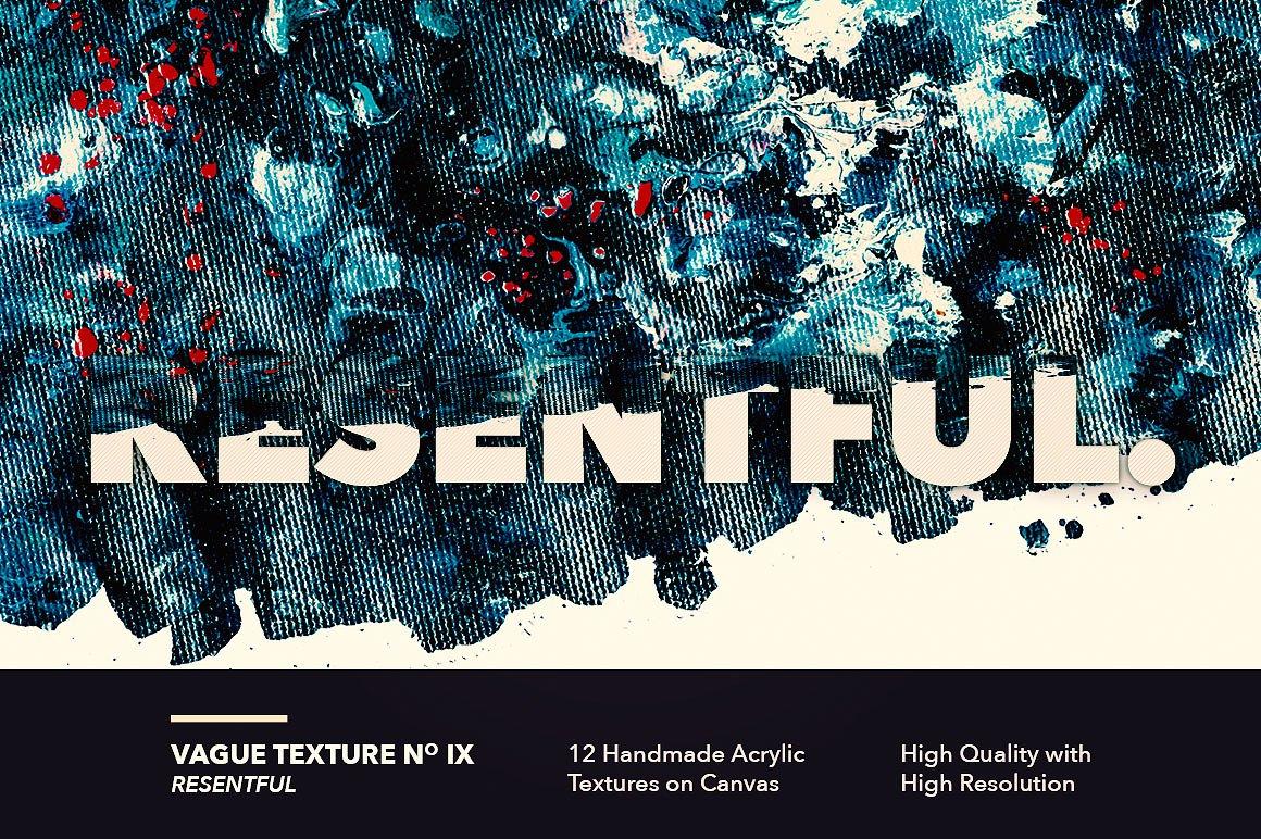 12款高清抽象炫彩丙烯酸涂料海报设计背景纹理图片素材 Vague I: 12 Acrylics Textures插图(9)