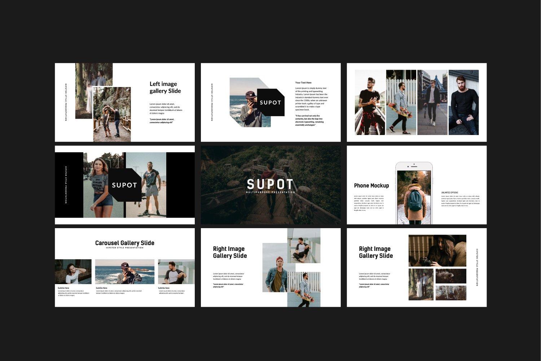 创意多用途商业策划演示文稿设计模板 SUPOT MNML – Powerpoint插图(6)