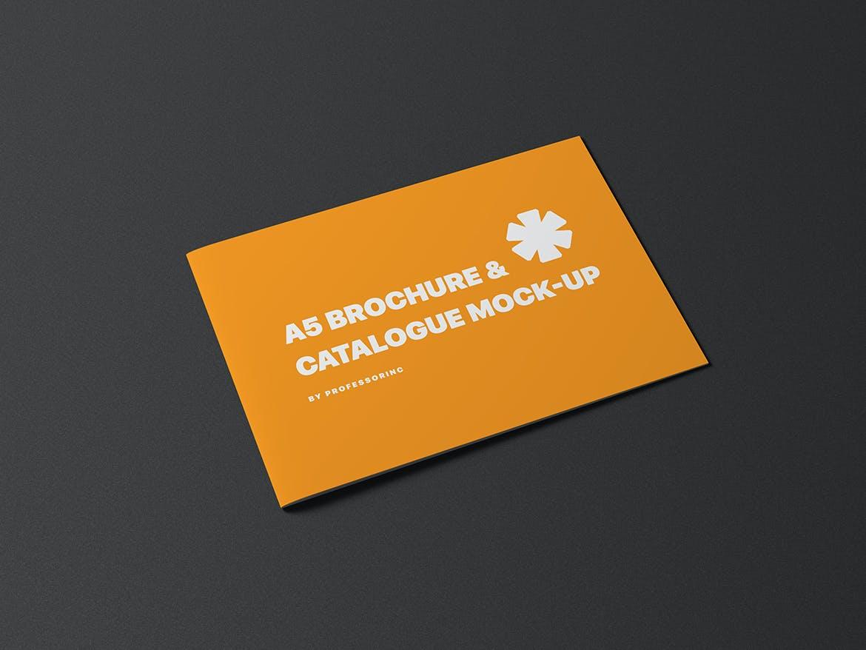 A5横版画册杂志设计展示样机模板 A5 Landscape Catalogue Brochure Mockup插图(8)
